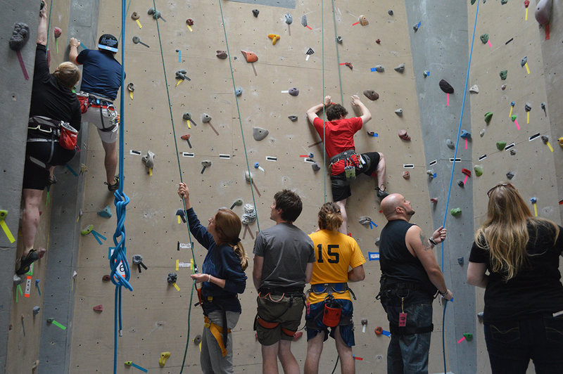 Rock Climbing Photo: Busy day at of Climbing at the Crux Champlain Vall...