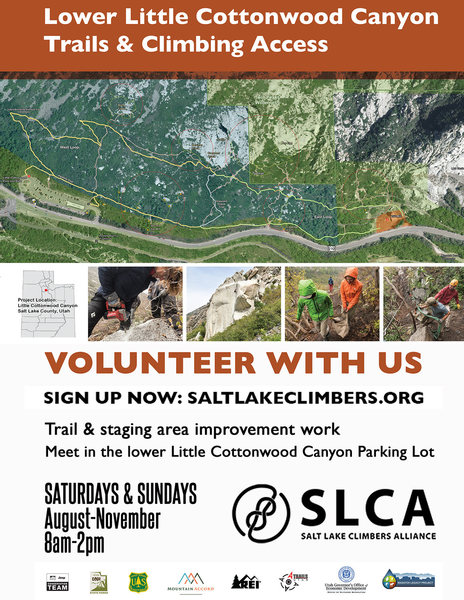 Register at: http://www.saltlakeclimbers.org/adopt-a-crag/