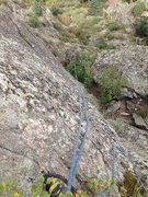 Rock Climbing Photo: Looking down from near the top to show the bushes.