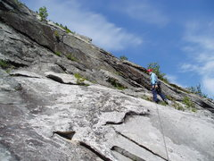 Rock Climbing Photo: RW at our P2 belay
