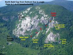 Rock Climbing Photo: Overview of North Bald Cap