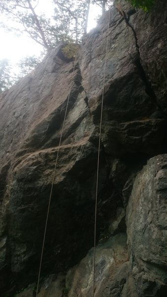 BBH follows the left hand crack. Right finger crack is called Brook Trout, and is also 5.9
