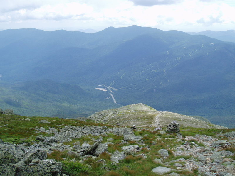 Rock Climbing Photo: Looking down towards the flat area where we cut le...