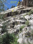 Rock Climbing Photo: 1st bolts marked.