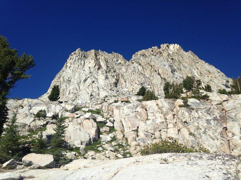 Rock Climbing Photo: Coming from TJ lake / East Face, skree/ lose rock ...