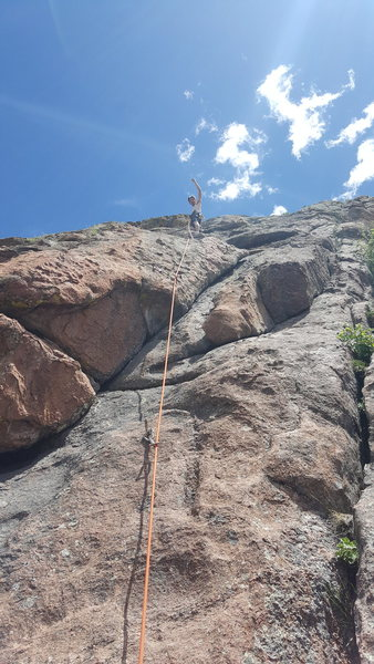 Rock Climbing Photo: Partner up on his lead