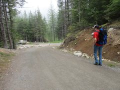 Rock Climbing Photo: Starting off the approach to Mt. Habrich from uppe...