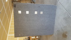 Top carpeted side - two compartments and outlet visible.