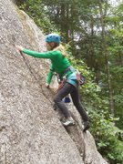 """Rock Climbing Photo: Working the initial finger crack on """"LeRoy.&q..."""