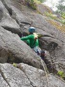 Rock Climbing Photo: Jamming on Pee Wee.