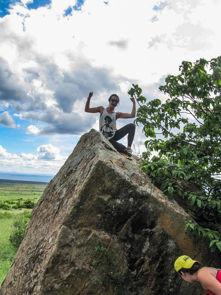 Rock Climbing Photo: Audrey, sitting triumphantly on top of Audrey'...