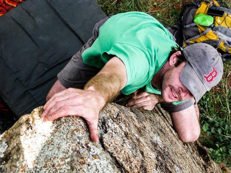 Andy climbing Audrey&@POUND@39@SEMICOLON@s Face.