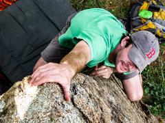 Rock Climbing Photo: Andy climbing Audrey's Face.