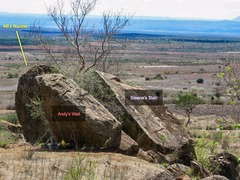 Rock Climbing Photo: AB's Boulder area from behind (uphill).  From ...