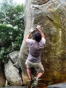 Rock Climbing Photo: AB on Steena's start holds.