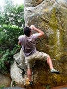 Rock Climbing Photo: AB making the big throw!