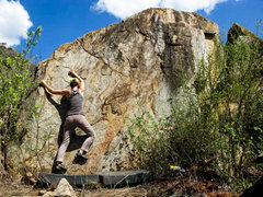 Rock Climbing Photo: Steena on Steena action!