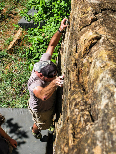 Rock Climbing Photo: AB looking for footholds.