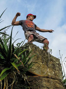"Rock Climbing Photo: ""I'm a big guy!"" ""Jesse, knock ..."