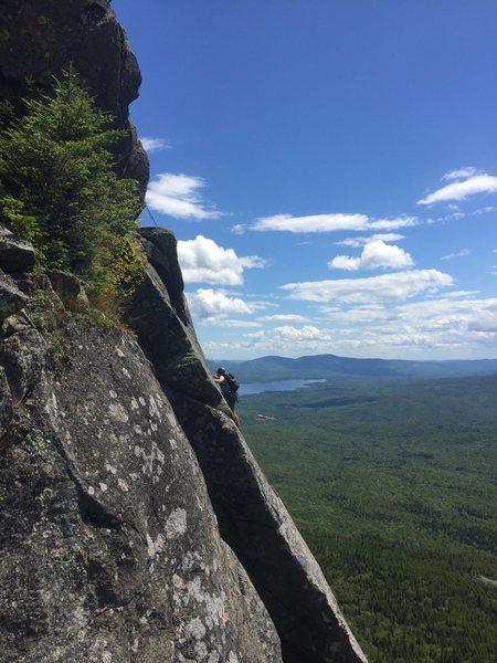 Rock Climbing Photo: Ron Birk on P2?