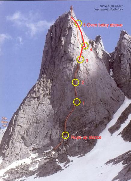 Rock Climbing Photo: Joe Kelsey's Feather Buttress topo, corrected.