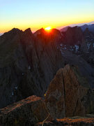 Rock Climbing Photo: Warbonnet sunset in July