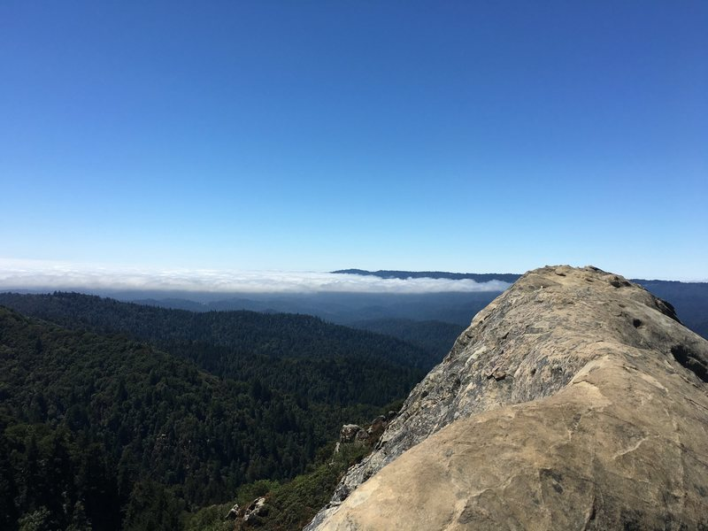 Rock Climbing Photo: Morning fog burning off from the top of Goat Rock....