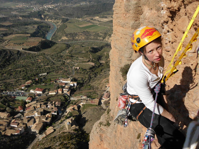 Rock Climbing Photo: Riglos Wife