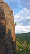 Rock Climbing Photo: Los Alamos Reservoir area arete project. August 20...