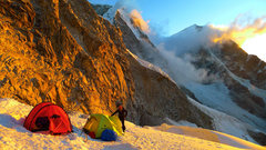 Rock Climbing Photo: Sunset at Chopi high camp.