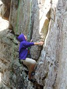 Myself climbing at UNK's outdoor adventure spring break 2015 trip