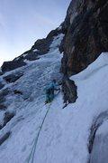 Rock Climbing Photo: The start of the P1