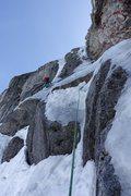 Rock Climbing Photo: Priti following the crux