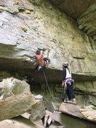 Rock Climbing Photo: Me at the start, Michelle Kim belaying