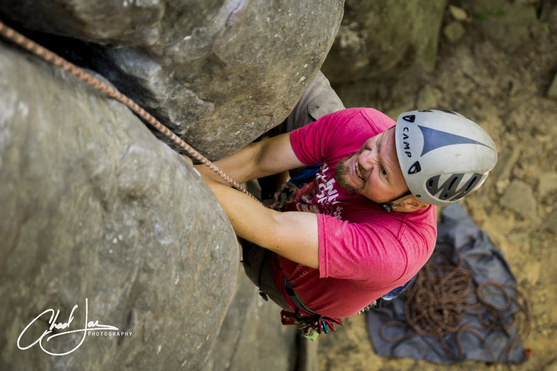 Rock Climbing Photo: Putting in the work!