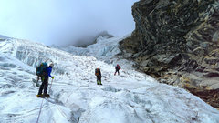Rock Climbing Photo: Start of the glacier.