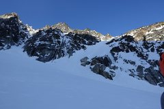 Rock Climbing Photo: View of the approach near the base of the route.  ...