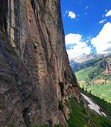 Rock Climbing Photo: California Route, Falls Walls, Telluride.