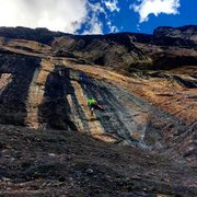 Rock Climbing Photo: Jimmy getting a lap on Gray Matter, Falls Walls, T...