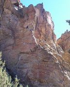 Rock Climbing Photo: Chris on his way to the chains