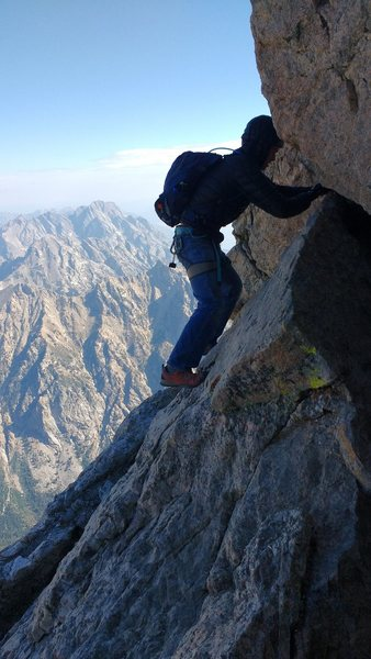 Rock Climbing Photo: The most exciting part of Owen spalding. Lots of b...