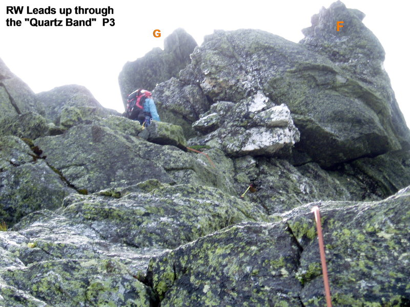 "Route Photo #4: P3 and the ""Quartz Vein"""