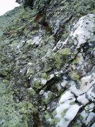 Rock Climbing Photo: The beautiful Quartz Vein