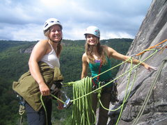Rock Climbing Photo: Ally and KP @ pitch 2 belay