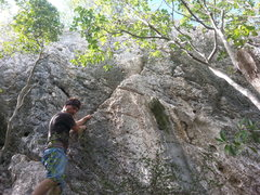 Rock Climbing Photo: Before the FA of Naile'