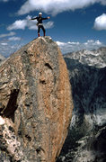Rock Climbing Photo: Summiting Warbonnet in 1979