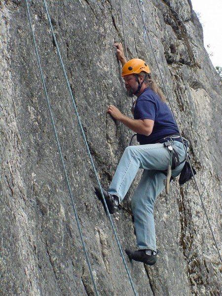 Rock Climbing Photo: climber on Shed My Skin