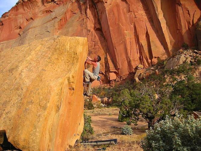 Rock Climbing Photo: Right side of the triangle
