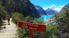 Rock Climbing Photo: The Laguna Paron trailhead.