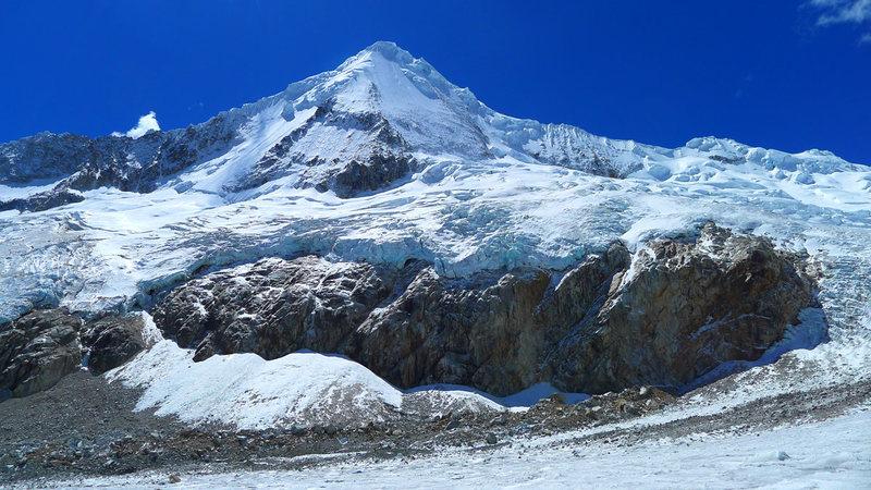 Artesonraju as seen from the Paron Glacier.